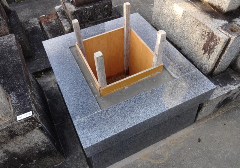 墓石の据付工事